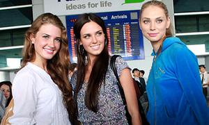 Hoa hậu Nga rạng ngời tại Sài Gòn