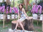 Hot girl Sài Gòn duyên dáng ở Hội hoa xuân