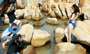 Hậu trường chụp bikini Miss Ngôi Sao