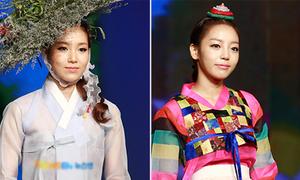 Sao Hàn xúng xính hanbok