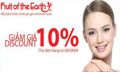 Fruit of the Earth giảm giá 10%
