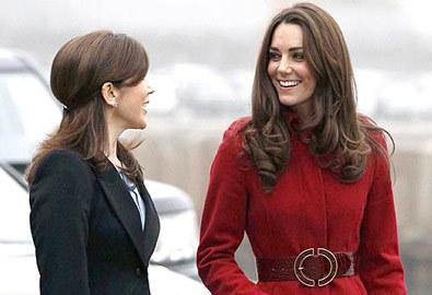 Kate rạng rỡ bên Công nương Đan Mạch