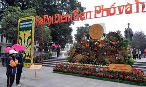 Phố hoa Hà Nội trước lễ khai mạc