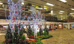 Sân bay 5 sao rực rỡ dịp năm mới