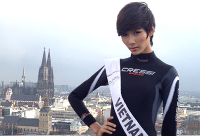Hoàng Thùy vào top 15 Top Model of the World