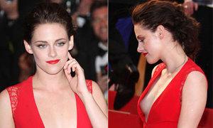 Kristen Stewart suýt lộ ngực