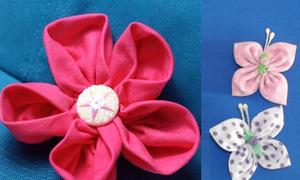 Tạo hoa 5 cánh xinh cho váy áo