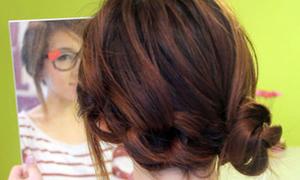 Lạ mắt với kiểu tóc thắt nút cực dễ