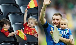 Những nhóc tỳ đáng yêu cổ vũ bố ở Euro
