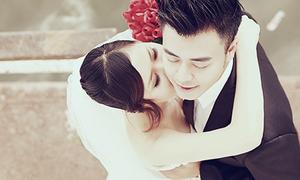 Ảnh cưới lãng mạn của MC Tuấn Tú