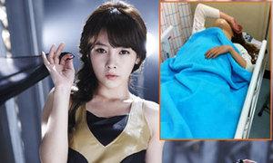 So Yeon (T-ara) bị nẹp cổ trên giường bệnh