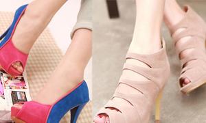 Giày, sandal cao gót 'chào đón' thu
