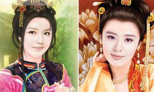 Vẻ đẹp của mỹ nữ Trung Quốc trong tranh