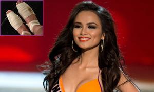 Diễm Hương bị đau chân trước bán kết Miss Universe