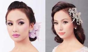 Make up tông tím, hồng cho cô dâu cổ tích