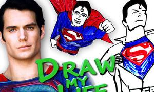 Clip hot: Superman 'vẽ' cuộc đời mình
