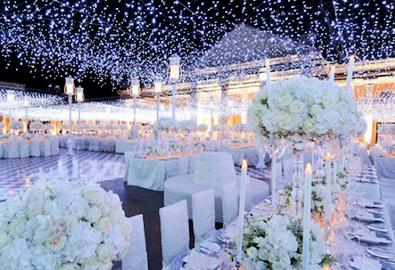 Mang ánh sáng vào tiệc cưới lung linh