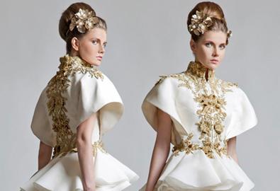 Váy cưới lấp lánh ánh kim