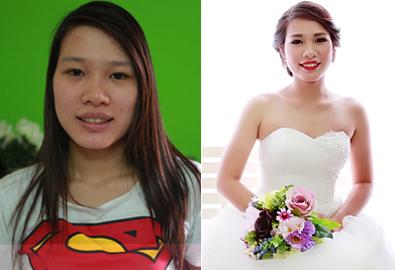 'Hô biến' cô dâu rạng rỡ ngày cưới