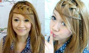 Tết tóc thác nước phong cách bohemian