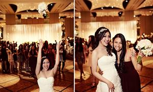 Màn tung hoa đám cưới thu hút khách mời