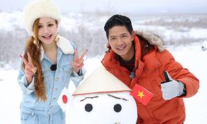 Việt Nga nghịch tuyết cùng Bình Minh