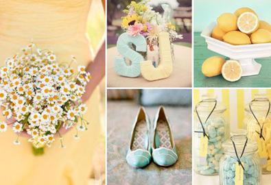 Xu hướng màu sắc nhẹ cho đám cưới xuân