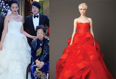 Vợ Thanh Bùi mặc váy cưới Vera Wang