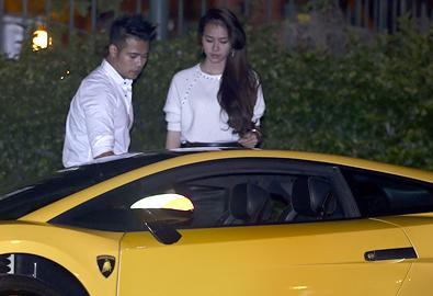 Ngọc Minh Idol chở hot girl bằng siêu xe