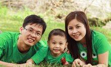 Ếch xanh - gia đình hạnh phúc
