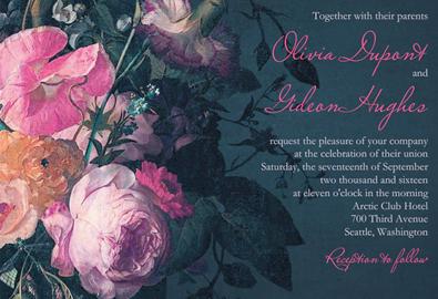 20 mẫu thiệp cưới in hoa sắc màu đáng yêu