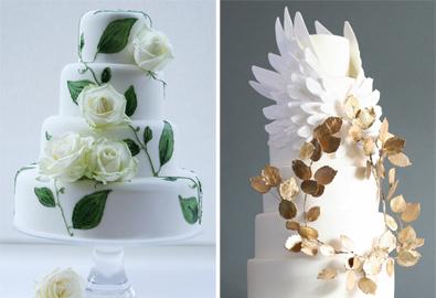 Bánh cưới màu trắng phá cách độc đáo