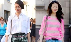 Street style giản đơn của siêu mẫu giàu nhất châu Á