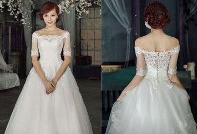 Váy cưới xòe, 'cứu tinh' cho vòng 3 nhỏ