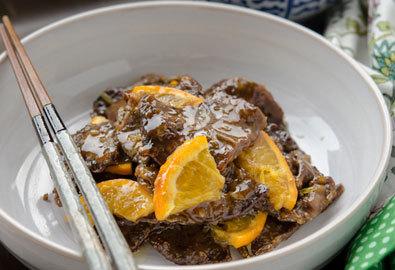 Thịt bò sốt cam ngon cơm