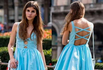 Diện váy áo hở lưng gợi cảm ngày hè