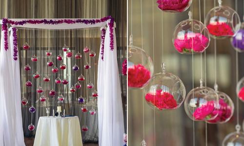 Dùng cầu thủy tinh trang trí đám cưới