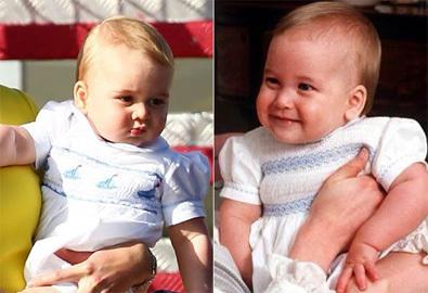 Hoàng tử George giống hệt bố lúc nhỏ
