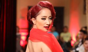 Khánh Thi thử sức làm người mẫu
