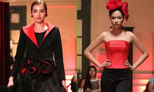 Dàn mẫu khoe sắc với trang phục đen - đỏ
