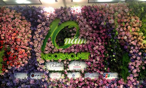 Tường hoa khổng lồ mừng sinh nhật Ngôi Sao 10 tuổi