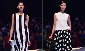 Dàn mẫu thanh lịch với váy áo đen - trắng