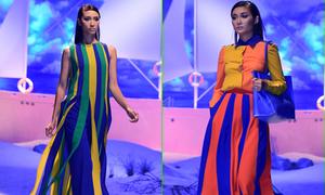 Đỗ Mạnh Cường giới thiệu váy hè đầy màu sắc