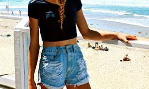 Hướng dẫn xé quần short jeans bụi bặm