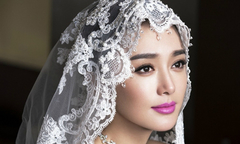 Tần Lam khoác áo cưới chờ một nửa