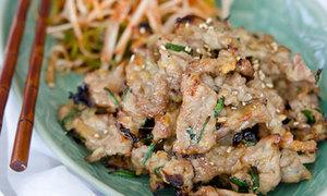 Thịt heo nướng hẹ đưa cơm