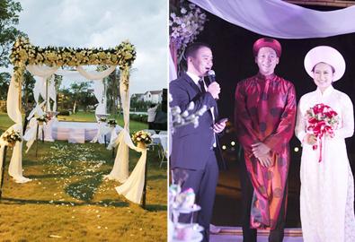 Lưu ý khi cưới ngoài trời như Khánh Linh