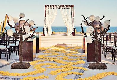 Những lối đi đẹp dẫn tới nơi làm lễ cưới