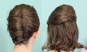 Hai kiểu búi xoắn cho tóc ngang vai