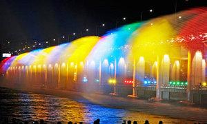 Đài phun nước cầu vồng tuyệt đẹp ở Seoul